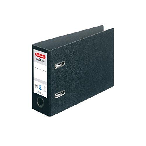 Herlitz 5176805 Ordner maX.file A5 quer, 7,5 cm mit selbstklebendem Rückenschild, Hartpappe