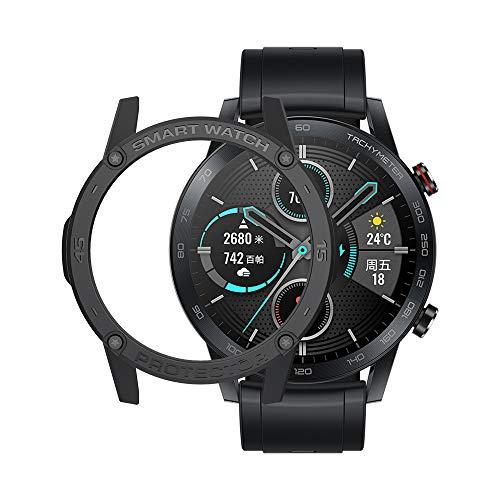 SIKAI CASE - Schutzhülle kompatibel mit Honor Magic Watch 2 Smart Watch 46mm, Weiches TPU Kratzfest Stoßfest Rahmen Flexible Bumper Cover Shell Abdeckung Haut Schutz (schwarz)