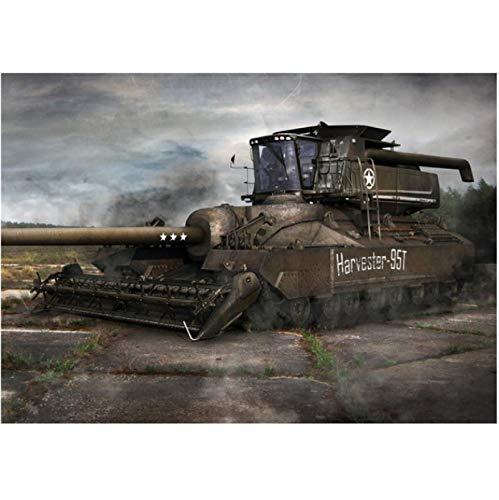 Zhuangzi World of Tanks HD Game Posters Sin Marco Pintura en Lienzo Decoración Sala de Estar Dormitorio Bar Inicio Arte de la Pared Decoración del Cartel 40x50cm L1189