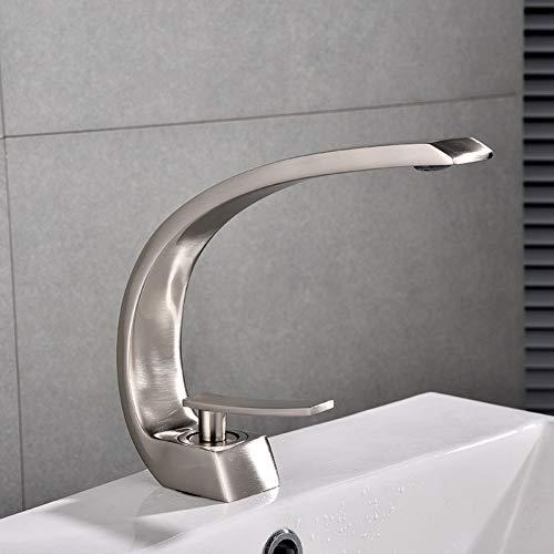 YHSGY Waschtischarmaturen Kupfer Heißes Und Kaltes Becken Wasserhahn Farbe Schwarz Waschbecken Einloch-Mischhahn