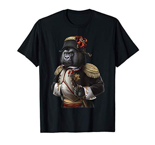 Gorilla als Kaiser Napoleon Bonaparte aus Frankreich T-Shirt