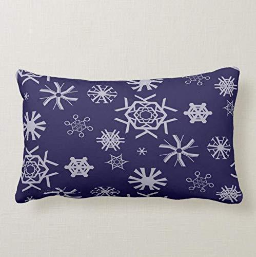 Perfecone Home Improvement Funda de almohada tipográfica copos de nieve para sofá y coche, 1 paquete de 50 x 75 cm