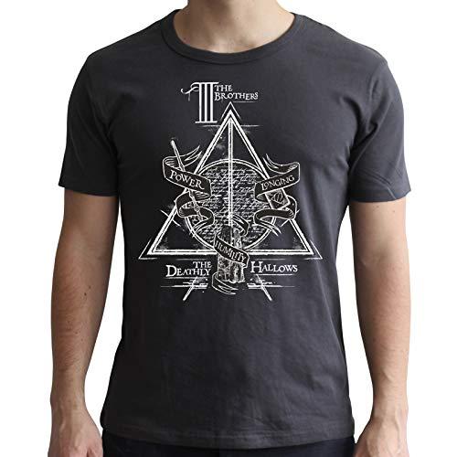 ABYstyle - Harry Potter - T-Shirt - Reliquias de la Muerte - Negro - Hombre (XS)