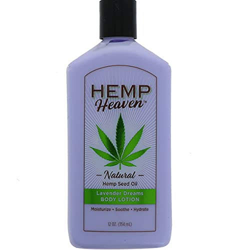 ''Hemp Heaven Moisturizing BODY Lotion - Lavender dreams made with naturel Hemp Seed OIL, Coconut OIL