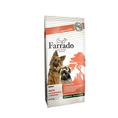 Farrado Hundefutter getreidefrei & glutenfrei – Trockenfutter mit Ente für Ihren Hund (12kg)