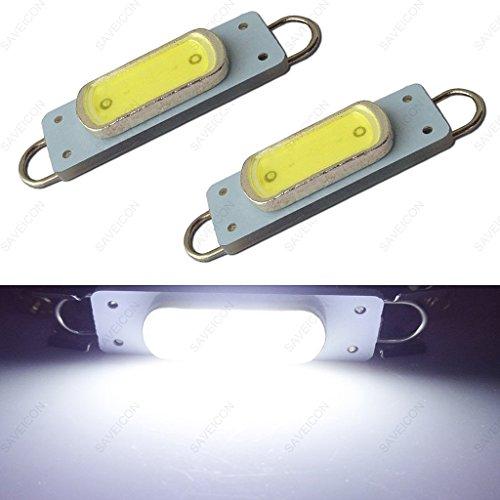 SAWE - 44mm COB Festoon LED Bulbs For Car Side Door Courtesy Rigid Loop 1.73' LED Light Bulbs 561 562 567 (2 pieces) (White)