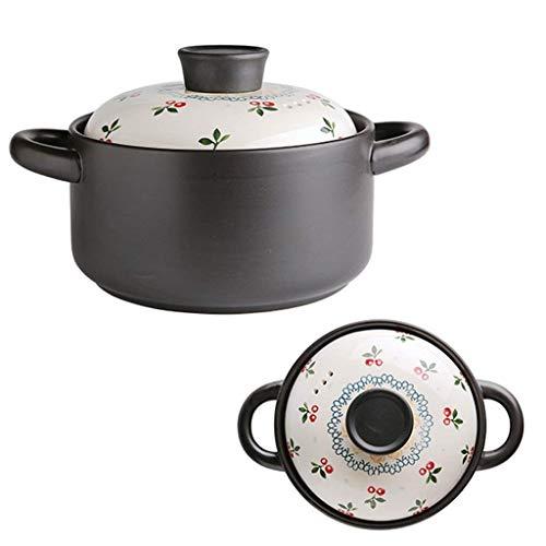 CVMFE Horno Grande y de Paredes Gruesas crisol de cocinar con el Mango de la Tapa de Ajuste hermético y de fácil Agarre