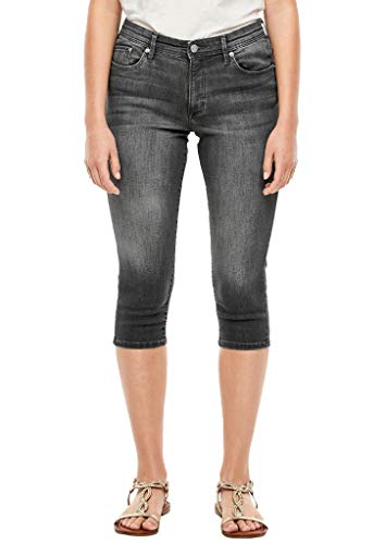 s.Oliver RED Label Damen Slim Fit: Capri-Jeans mit Waschung Grey 38