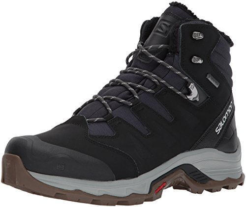 SALOMON Herren Quest Winter GTX Trekking-& Wanderhalbschuhe, Phantom/Black/Vapor Blue, 44 EU