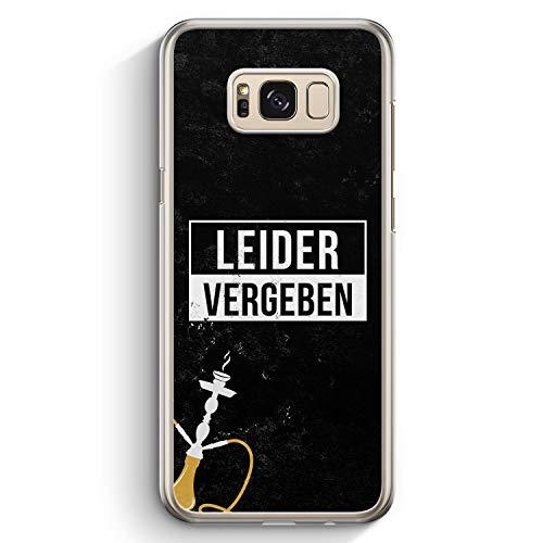 Leider Vergeben Shisha - Hülle für Samsung Galaxy S8+ Plus - Motiv Design Cool Witzig Lustig Spruch Zitat Grunge - Cover Hardcase Handyhülle Schutzhülle Case Schale