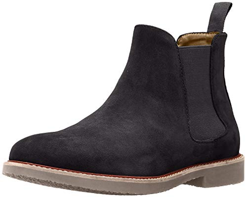Steve Madden Men's Highline Chelsea Boot, Black Suede, 7.5 M US