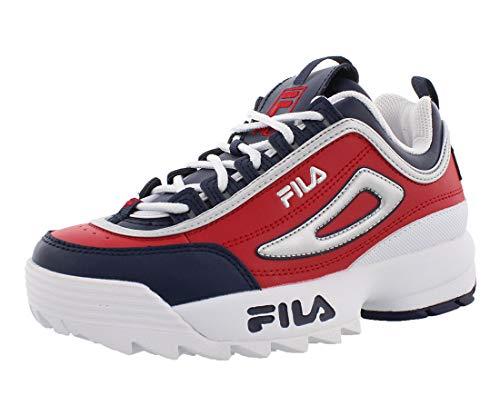 FILA Kids Disruptor II Premium RED RED White Size 7