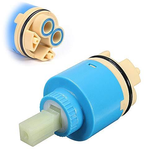 Toolstar - Cartuccia per rubinetto, 1 pezzo da 35 mm/40 mm, valvola a disco in ceramica per rubinetti a leva singola, miscelatori monoblocco per bagno o cucina (tipo A/B), blu