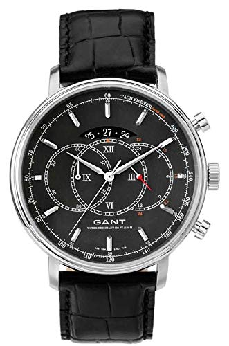 GANT Herren-Armbanduhr XL Analog Quarz Leder W10891