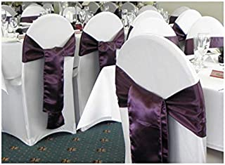 SPRINGROSE 100 White Scuba Spandex Stretch Universal Wedding Chair Covers. It is Made for Use on Folding and Banquet Chairs.