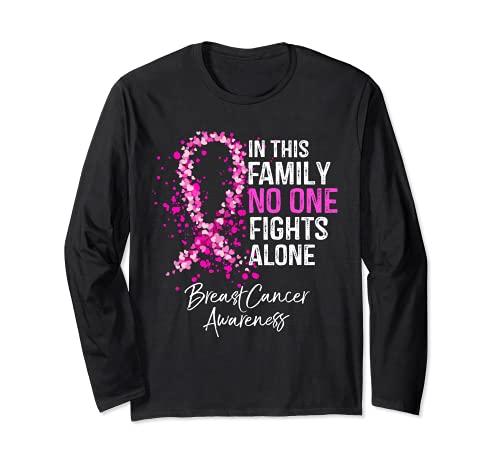 En esta familia nadie lucha solo contra el cáncer de mama Manga Larga