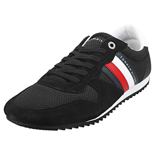 Tommy Hilfiger Herren Essential MESH Runner Sneaker, Schwarz (Black Bds), 44 EU