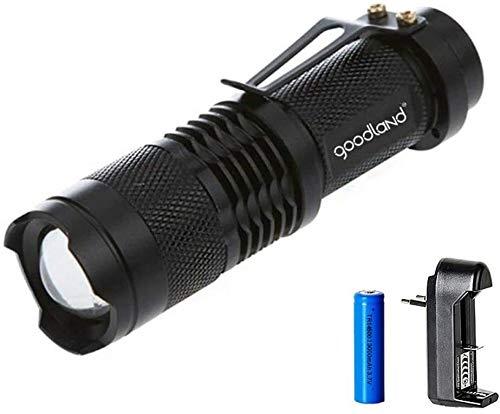 FANPING LED Lampe de Poche LED Portable Torche Tactique étanche Mini Puissant zoomables 3 Mode for Camping Vélo