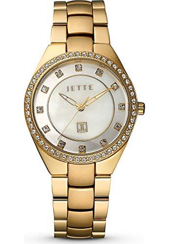 JETTE Time Damen-Uhren Analog Quarz One Size Gold Edelstahl 32012269