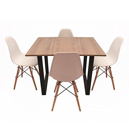 mesa 4 sillas fabricante CASA FERRO
