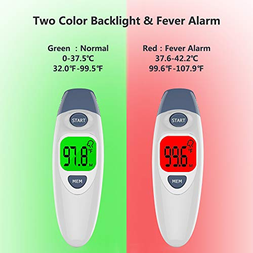 【2019 Upgraded】Baby Thermometer, URWILL 3-in-1 Medical Forehead and Ear Thermometer, Infrared Digital Temporal Thermometer for Fever, Clinical Instant Thermometer Suitable for Baby, Toddler and Adults