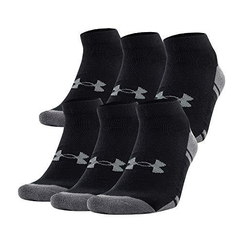 Under Armour Adult Resistor 3.0 Low Cut Socks (6 and 12 Pack) , Black/Graphite (6 Pack) , Medium