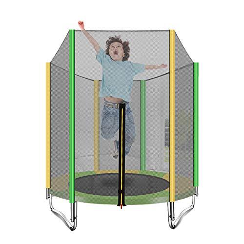 Trampolines Voor Kleine Kinderen - Huishoudelijke 5Ft-Trampoline Met Veiligheidsnetbehuizing En Schuimkussen, Opvouwbaar, Draagbaar En Gemakkelijk Op Te Bergen