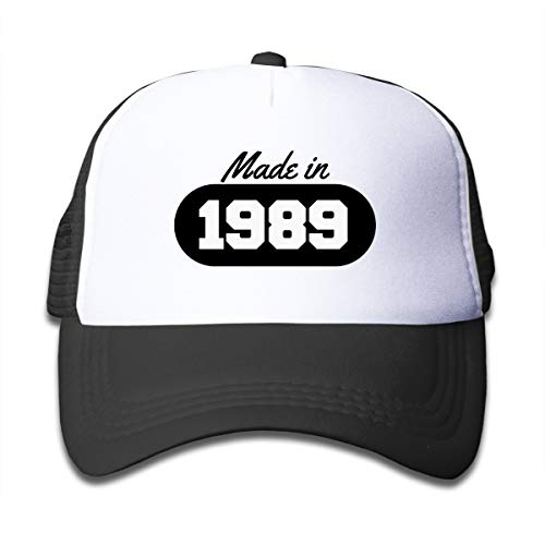 Xqsfl931 Made In 1989 Mesh Baseball Cap Kid Boys Girls Adjustable Golf Mesh Baseball Cap Kids Trucker Hat