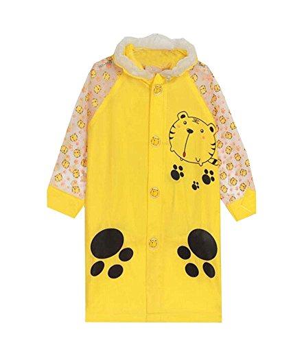 Utile pour enfants Imperméable bébé Outdoor Rain Jacket Yellow