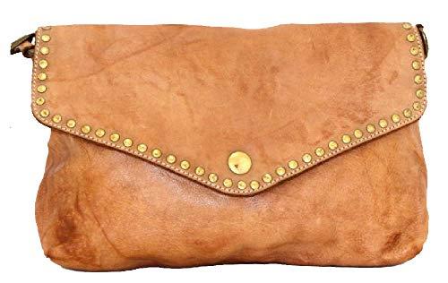 BZNA Bag Donia cognac Clutch Italy Designer Damen Handtasche Schultertasche Tasche Schafsleder Shopper Neu