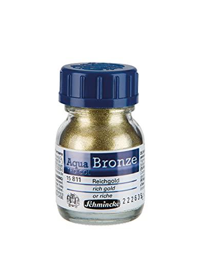 Schmincke - Colore bronzeo a base acqua, 20 ml, colore: oro pieno