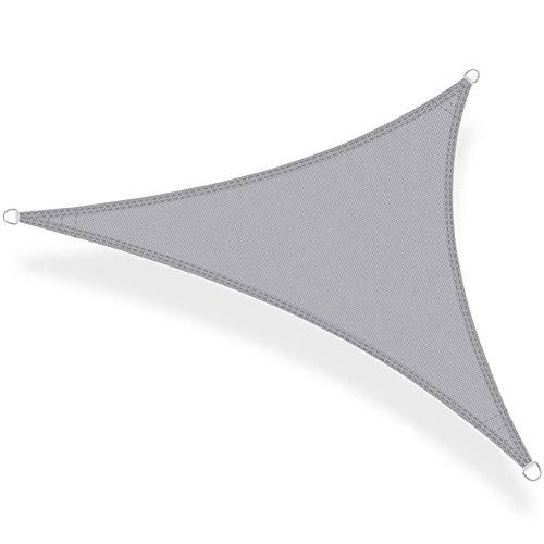 GuoWei Triangular Velas de Sombra Respirable Protector Solar Bloque UV Al Aire Libre Jardín Toldo Pabellón, 3 Colores (Color : B-4.8x4.8x4.8m)
