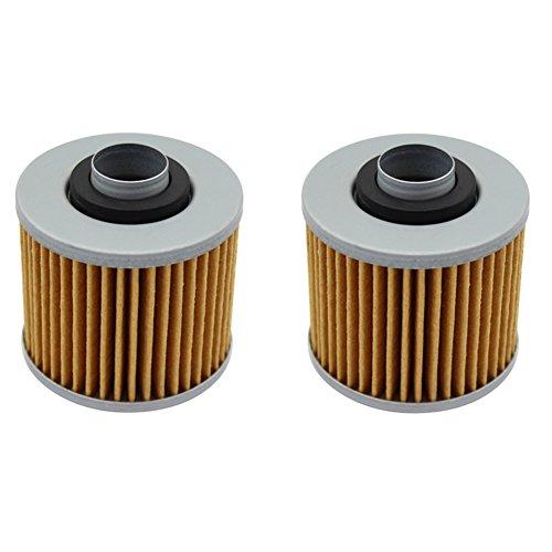 cyleto Filtro de aceite para Yamaha XVS650V-Star 650Custom 1998–2011/XVS 650V estrella 650Classic 1998–2010(Pack de 2)