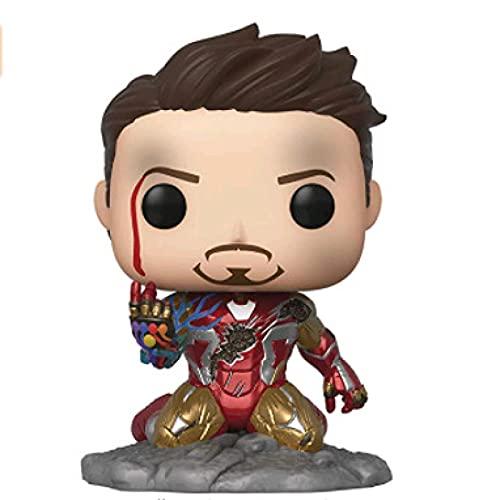 Pop Marvel Avengers Endgame - Figura De Vinilo De Lujo I Am Iron Man Que Brilla En La Oscuridad # 580 - Figuras De Acción - Decoración De Escritorio para El Hogar, Figura De Cabeza Temblorosa
