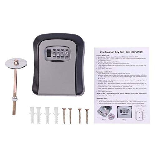 Preisvergleich Produktbild Tree-on-Life 4 Digit Kombination Passwort Schlüssel Box Schlüssel Speicherorganisator Fall Wand Home Security Lock Tool Metall Schlüsselkasten