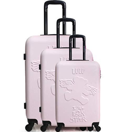 Lulu Castagnette Set de 3 valises de Voyage ABS Solides...