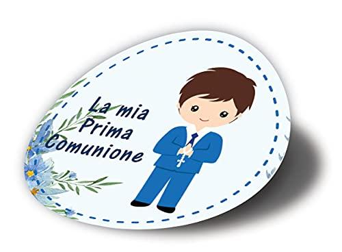 20 pezzi Adesivi tondi Prima Comunione bimbo, 40 millimetri, etichette cresima, thank you stickers, grazie, festa, tondo, rotondo, adesivi comunione bimbo M30