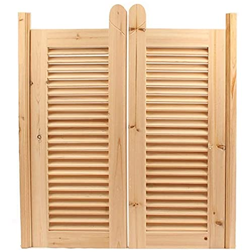 RTSFKFS Interior Doors Hinge Swing Tower Cafe Bar Pub Jalousie Solid Wood Unpainted Close Kitchen Separation Scented Fir Home Accessories (Size : 100x100cm)