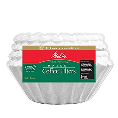 Melitta Basket Coffee Filters, White for 8-12 Cup , 200 ct