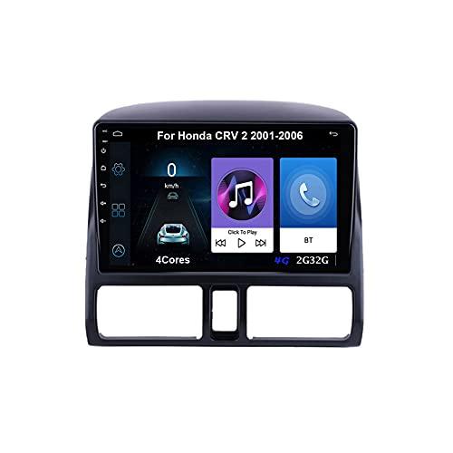 Autoradio GPS Navigazione Music 9 Pollici HD Touch Multimedia Per Honda CRV 2 2001-2006 Collega E Usa Support Controllo Del Volante Chiamate in Vivavoce Telecamera Posteriore