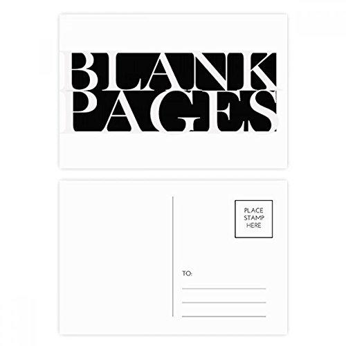 DIYthinker stijlvolle personages lege pagina's ansichtkaart set verjaardag dank kaart mailing kant 20 stks 5.7 inch x 3.8 inch Multi kleuren