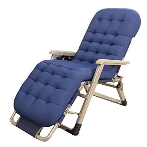 Thuis outdoor/vouwstoel Outdoor Relaxer Recliner stoelen Zonnestoelen Vouwen Zero Zwaartekracht Stoelen Outdoor Tuinstoel met Katoen Pad Verstelbaar voor Zitten en Liggen Lichtgewicht Camping Stoel