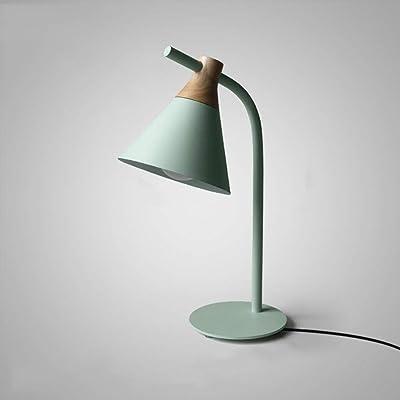 Nordic Macarons Lámpara de mesa de metal Moderno Minimalista Lámpara de pie Sofá Mesa Iluminación Dormitorio Mesita de noche Lámparas de lectura Lámpara de escritorio (Color: Gris): Amazon.es: Iluminación