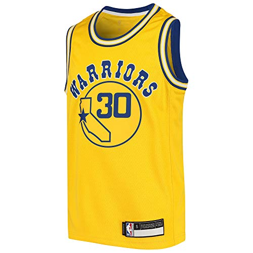 Outerstuff Stephen Curry Golden State Warriors #30 Yellow Youth 8-20 Hardwood Classic Swingman Jersey (Large 14/16)