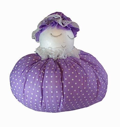 Handgemaakt design - lavendelpop - lavendelkussen - geurkussen - sierkussen - met echte lavendel