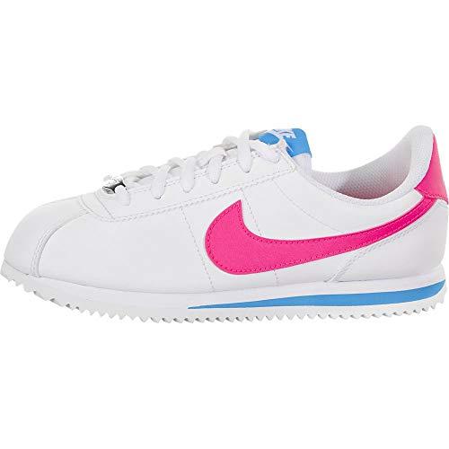 Nike Herren Boys Cortez Basic Sl (gs) Shoe Traillaufschuhe, Mehrfarbig (White/Hyper Pink/Photo Blue/Black 107), 38.5 EU