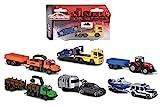 Majorette 212053154 Trailer Assortment - Cochecito de juguete (incluye caja de colecciones, neumáticos de goma, rueda libre, 6 modelos), multicolor , color/modelo surtido