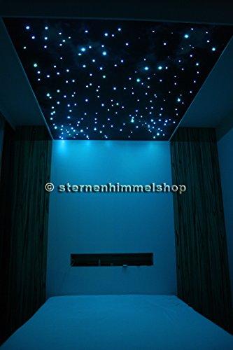 Kit Cielo Stellato RGB LED 5 W 250 Fibre Ottiche cambiacolore con telecommando e silicone speciale per il fissaggio delle fibre
