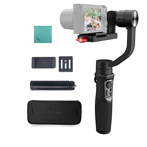 hohem Multi 3軸 ハンドヘルド ジンバル スタビライザー 最大負荷0.4kg Andoerクリニングクロス付き Sony RX100シリーズ用 Canon Gシリーズ用 パノソニックDMC-LX10用 GoPro Hero 7/6/5 SJCA