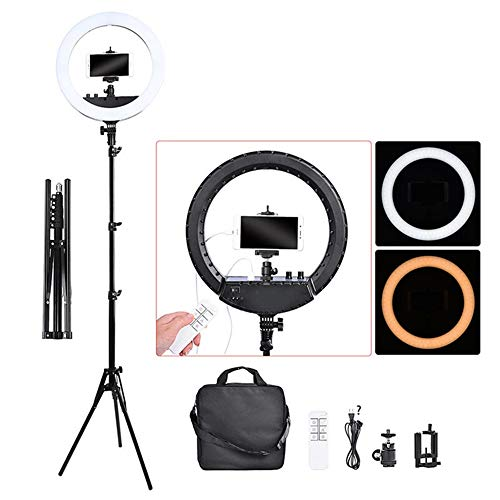 14 Inch Photographic Light Ring Lamp, 240 LED Ring Light Tripod Stand & Remote voor Camera Phone Video Photo Studio